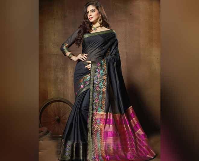 black color saree tips