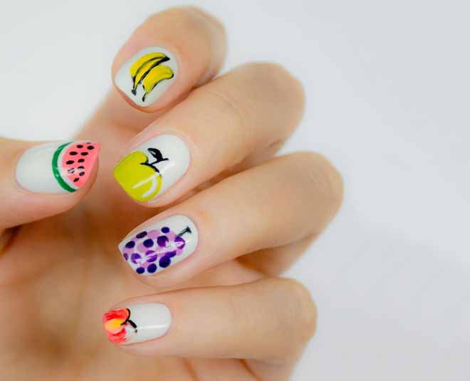 fruit nail art designs for summer tips