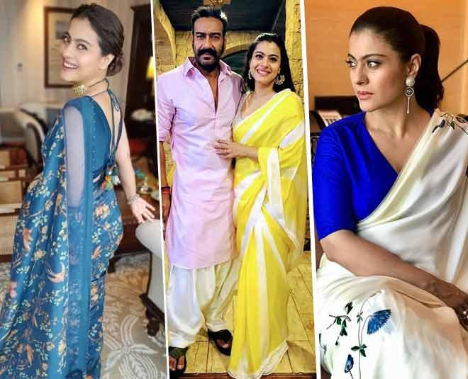 kajol beautiful sarees