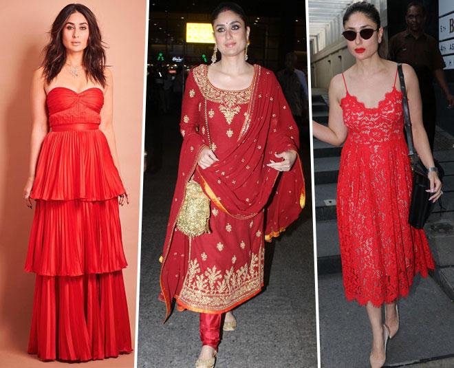 kareena kapoor red outfits m
