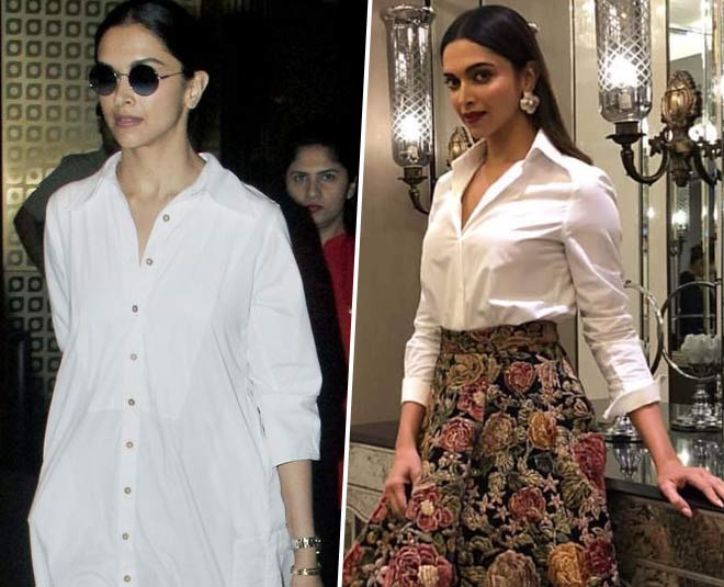 deepika padukone in white shirt