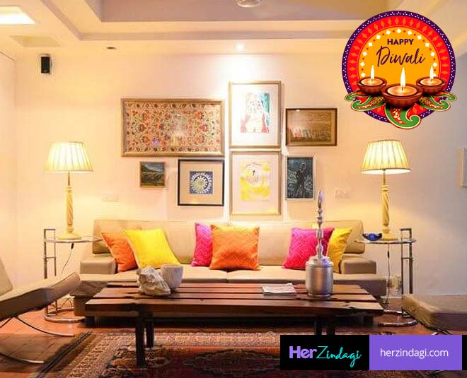 mind while decorating living room in diwali tips