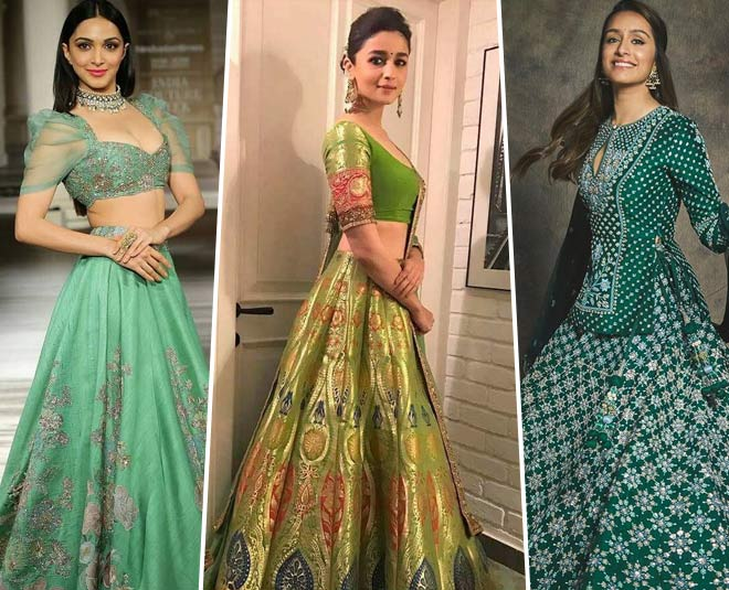 Bridal Fashion   Celeb Approved Green Lehengas That Are Ideal For Mehendi Ceremony