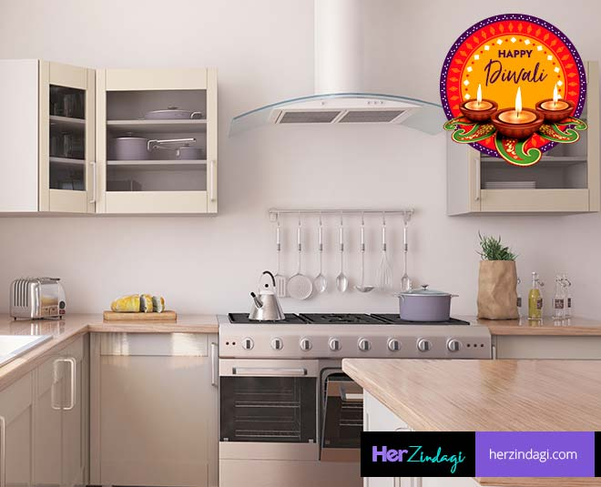 Ttips to decorate your small kitchen on diwali