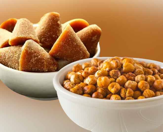 best benefits of chana and gur