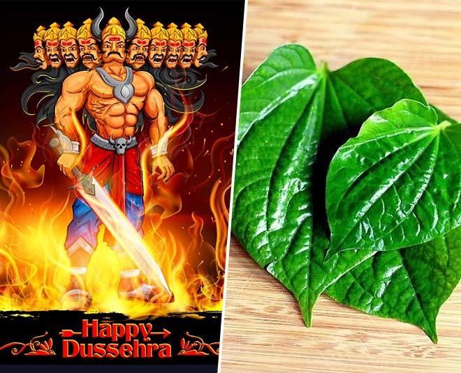 eaten betel leaft on dussehra main
