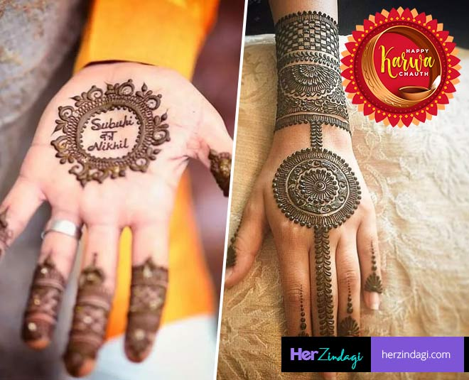 Try These Mehendi Designs This Karwa Chauth If Minimal Is Your Thing