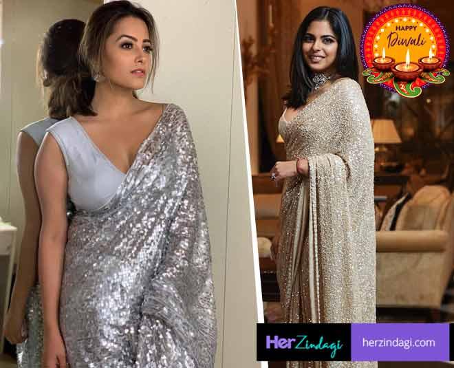 sequins saree inspiration diwali party