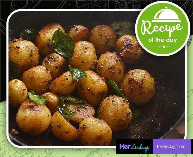 baby potatoes fry main