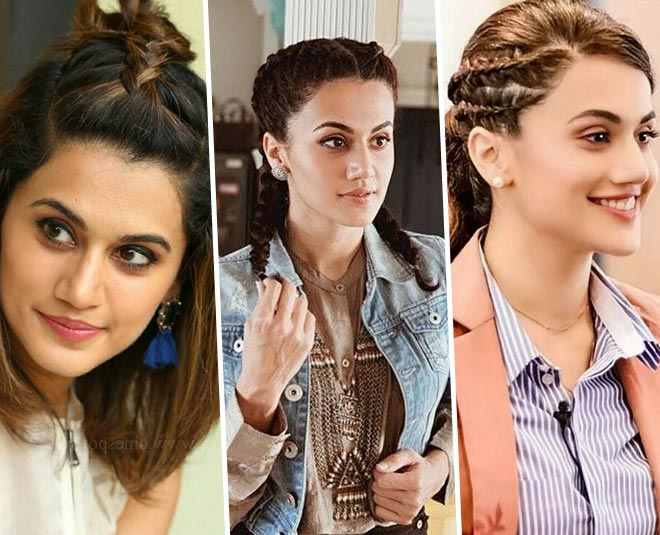 Ma Taapsee Pannu's Quirky Braid Hairstyles