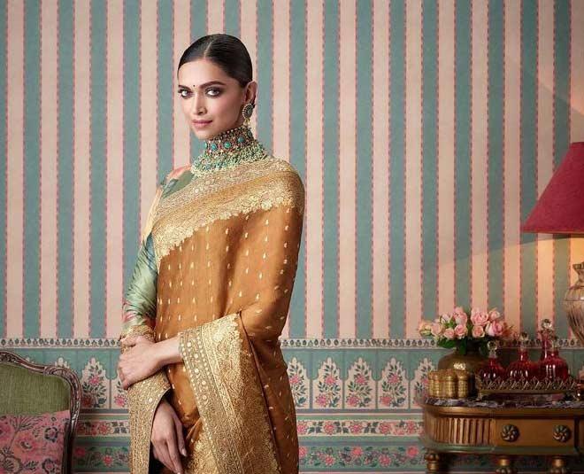 deepika padukone inspired latest light weight saree