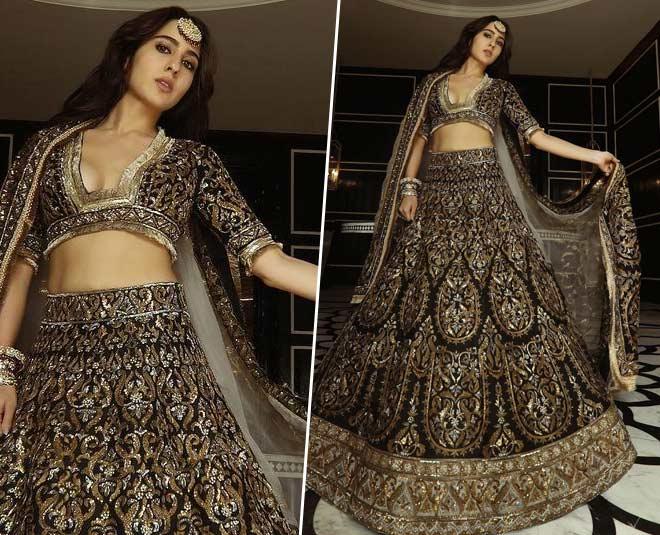 sara ali khan latest lehenga