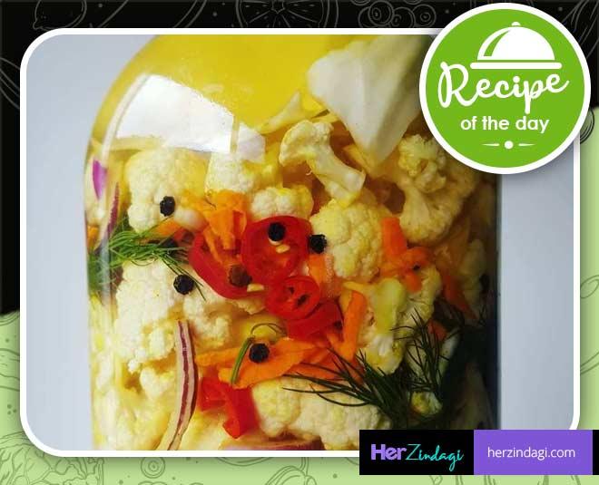 Super Delicious Cauliflower Stem Pickle Reci