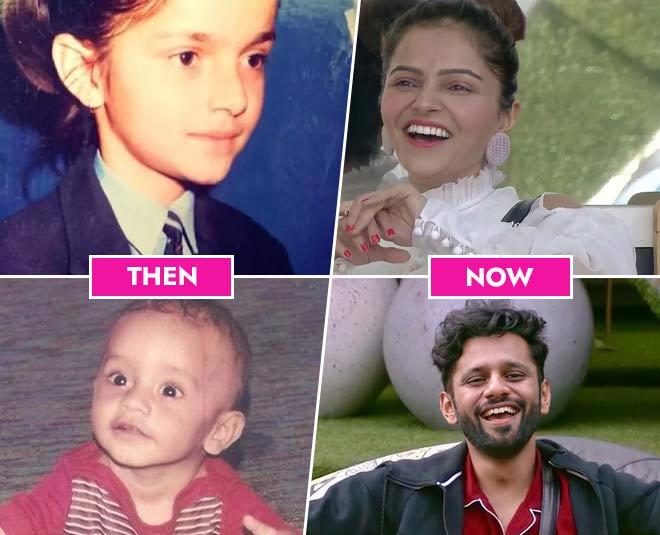 childhood pictures bigg boss  contestants abhinav shukla nikki tamboli