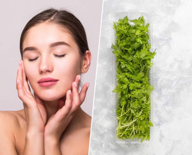 coriander for skincare