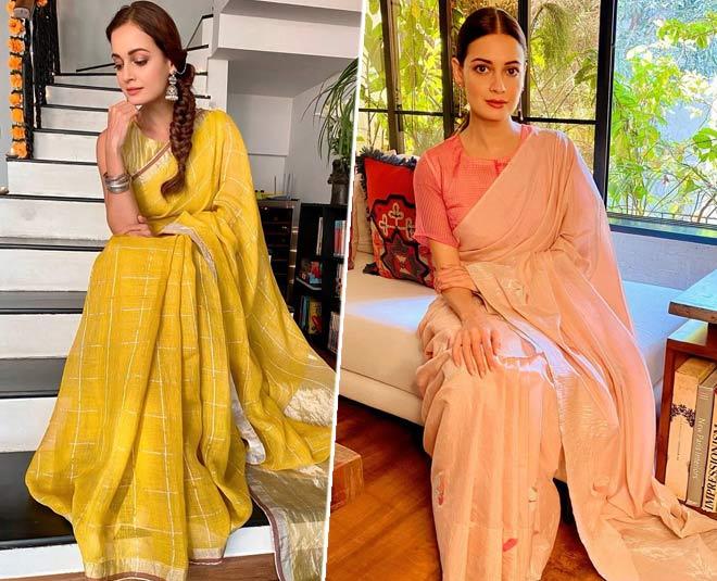 dia mirza sarees look