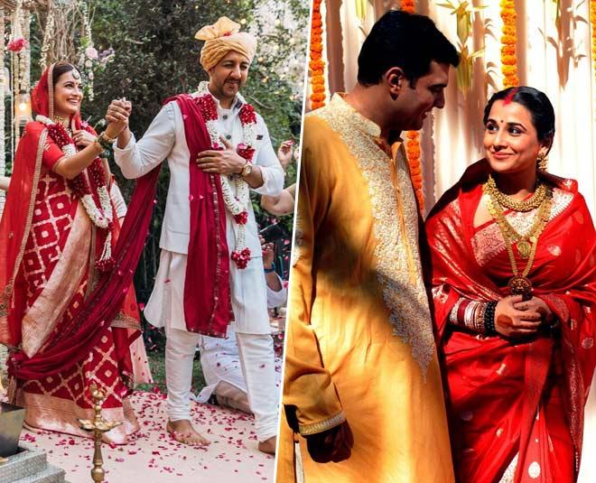 dia mirza vidya balan wedding sarees