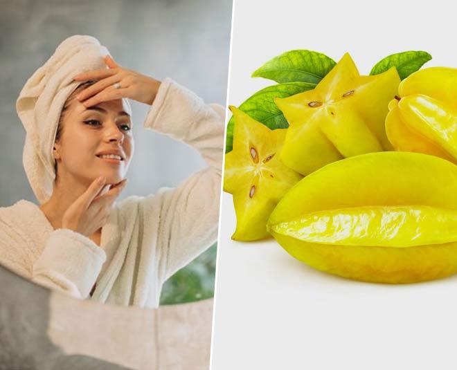 eating a starfruit