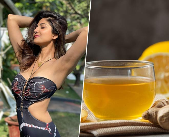 shilpa shetty and healthy drink