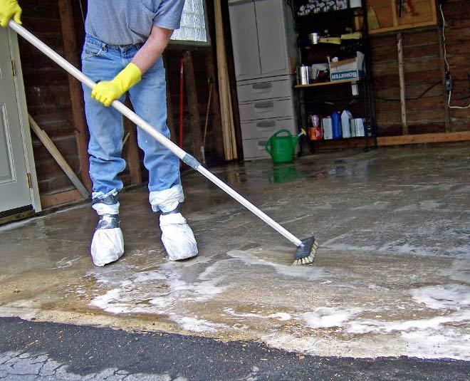 tips to clean cement floor