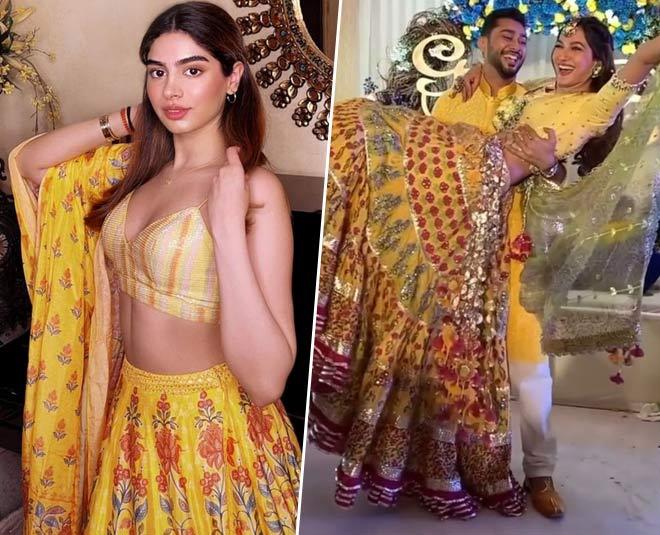 latest yellow lehenga designs