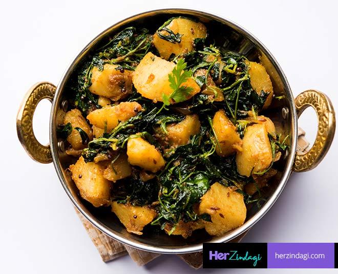 How to Make Aloo Soya Methi Sabji