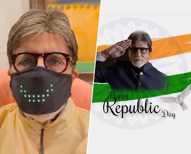 amitabh bachchan wears digital mask on republic day story