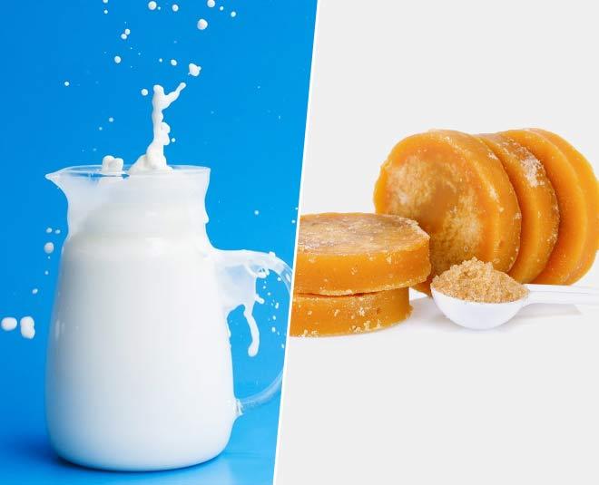 jaggery milk health benefits