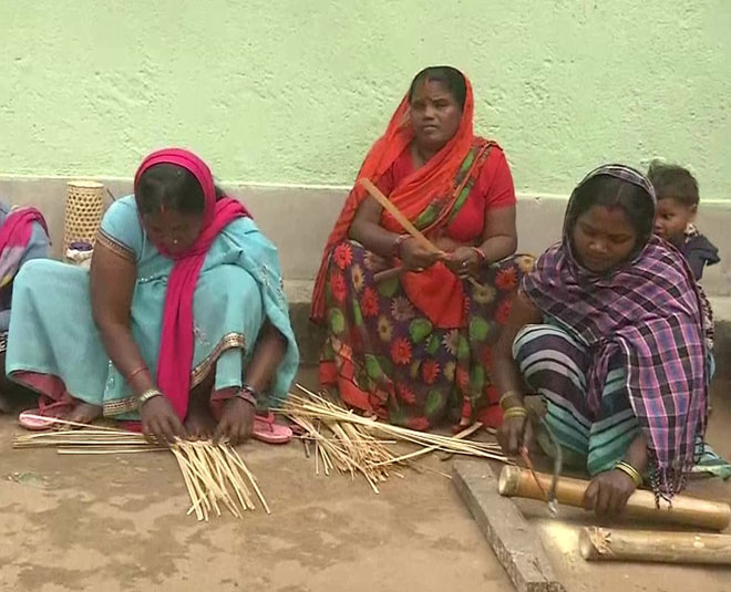 jitan devi jharkhand women hand crafted bamboo products