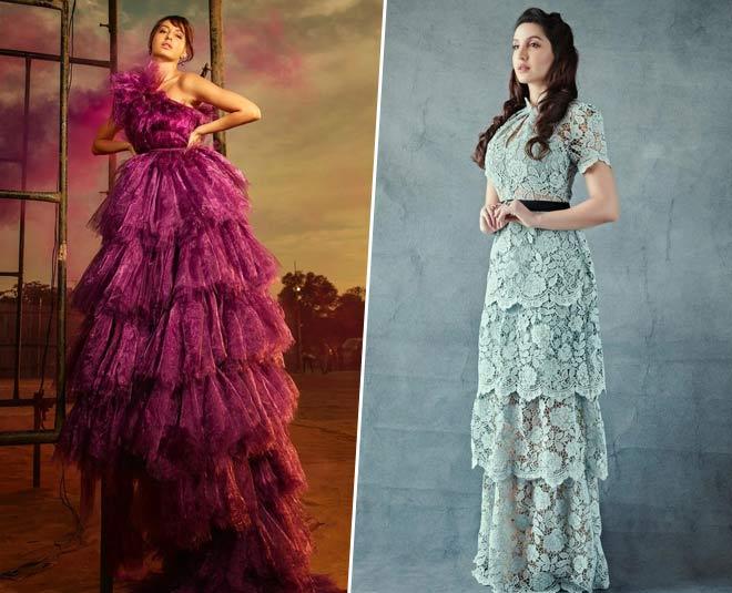 nora fatehi gowns