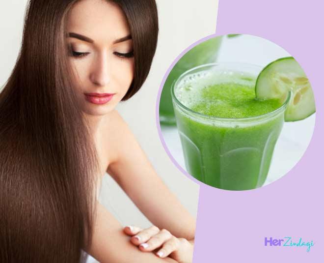cucmber juice hair care