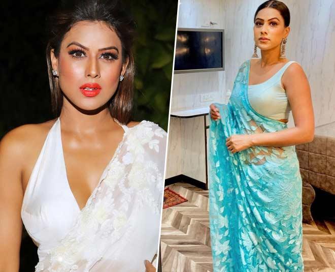nia sharma gorgeous saree looks