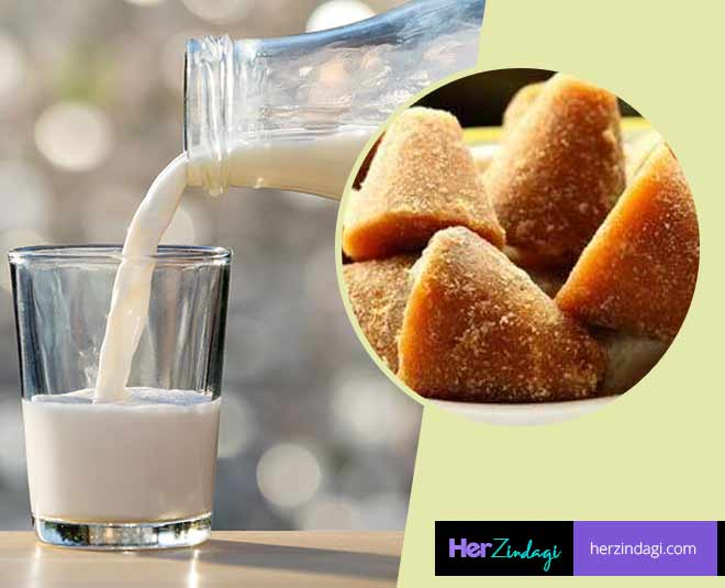 about milk and jaggery health benefits