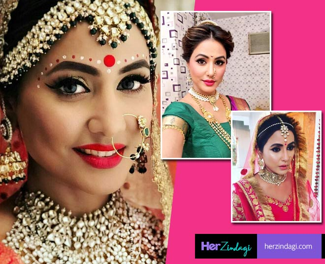 best hina khan bridal look