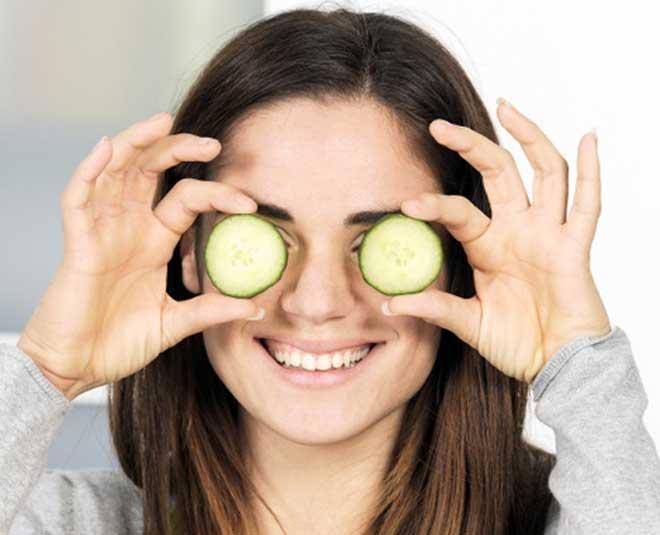 cucumber for eyes inside