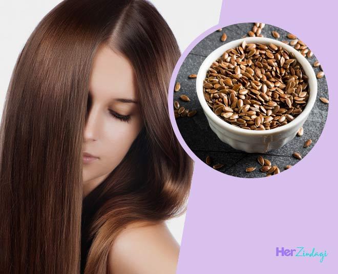 flax seeds and hair gel