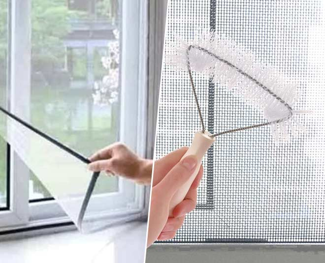 how to clean window mosquito net tips