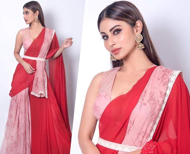 how to drape a saree on lehenga