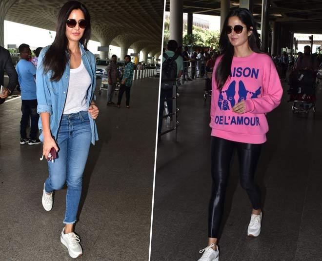 katrina kaif airport looks casual wear