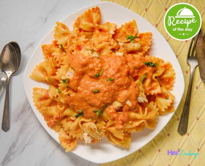 pink sauce pasta main