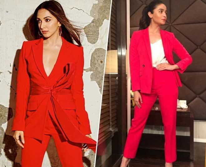 red pant suit m