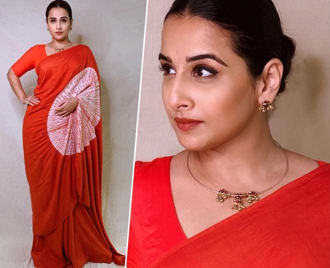 vidya balan saree look