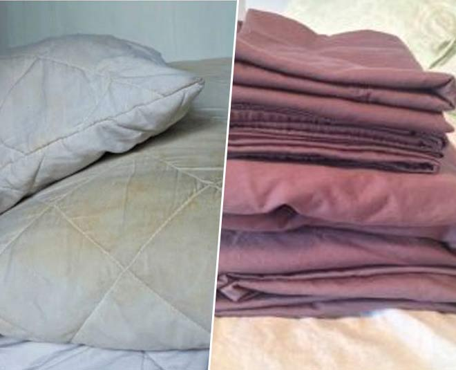 cleaning a pillow and bedsheets