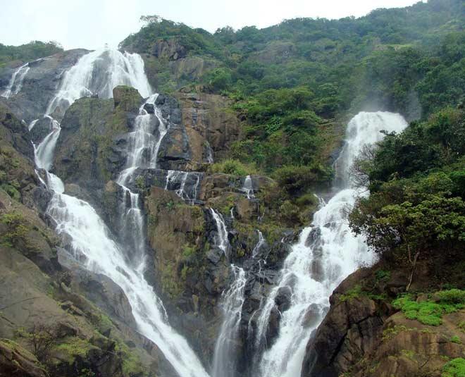 different waterfalls in goa