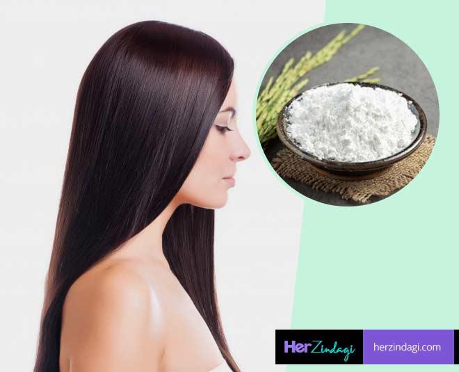rice flour for hair