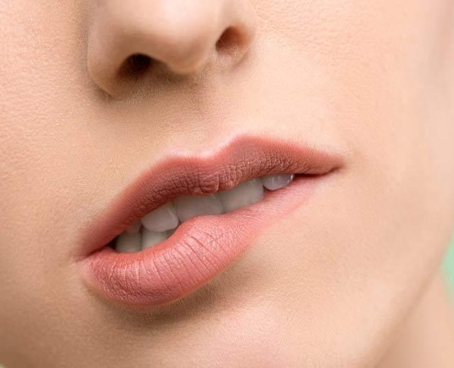 lip biting  m