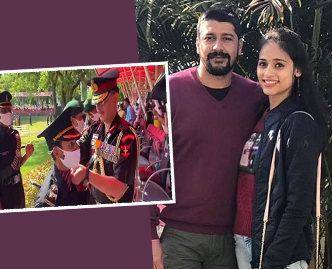 pulwama martyr wife nitika kaul joins army pipping ceremony video