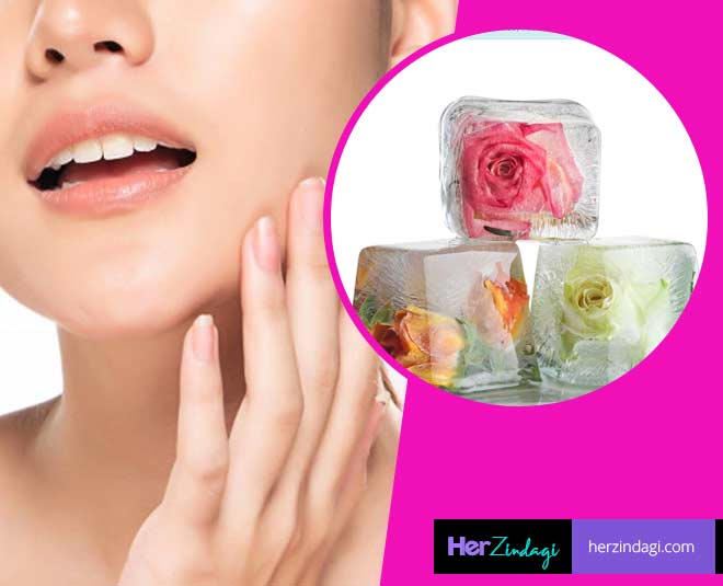 rose water ice cubes benefits for skin