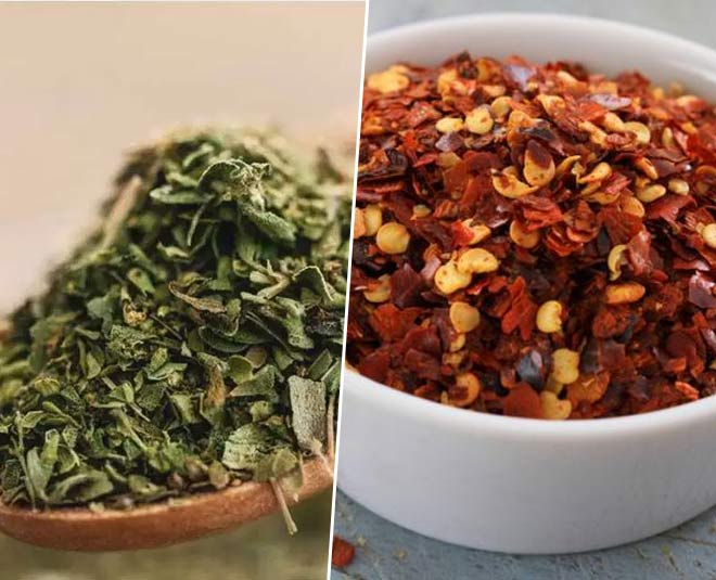 trick to make oregano and chilli flakes